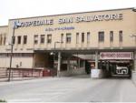 L'Aquila, i lavoratori della Olicar davanti l'ospedale
