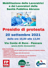 PRESIDIO DI PROTESTA - Lavoratori sanitari e socio-sanitari