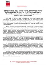 CORONAVIRUS,  CGIL:
