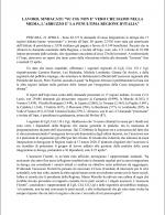 """LAVORO, SINDACATI:  """"SU  CIG  NON E' VERO CHE SIAMO NELLA MEDIA, L'ABRUZZO  E'  LA PENULTIMA REGIONE D'ITALIA"""""""