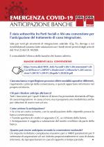 Emergenza Covid-19 Anticipazione Banche
